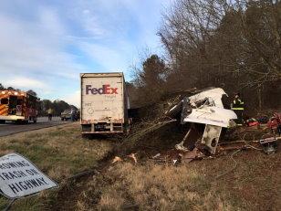 Truck Accident Expert: FedEx Truck Struck GA Police Car