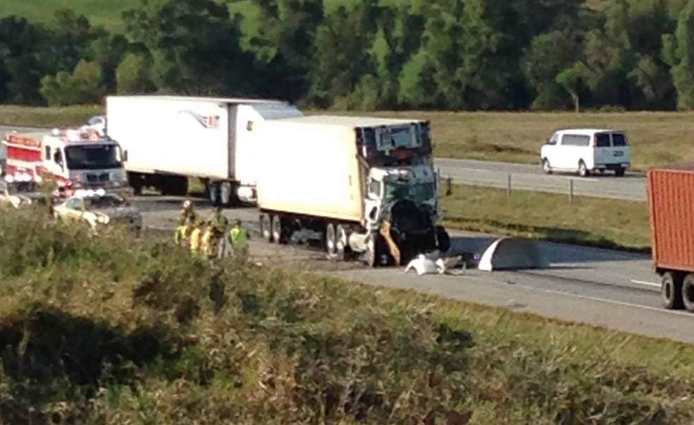 1 dead after car-semi accident on Highway 20   Local news ...
