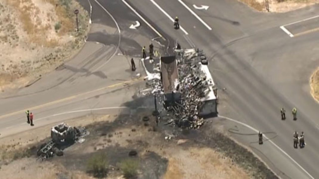 Truck Safety Expert and Accident Expert: Two Semi Trucks Crashed and Burst Into Flames