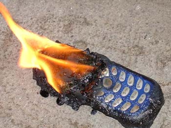 Cell Phone Forensics Expert: Cell Phone on Fire